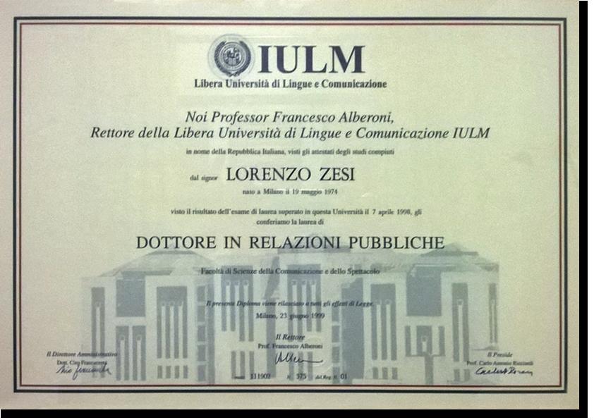 Laureato Relazioni Pubbliche - Lorenzo Zesi, Consulenza di Comunicazione e Web Marketing