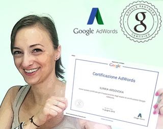 Ilinka Arsovska - Certificata Google AdWords