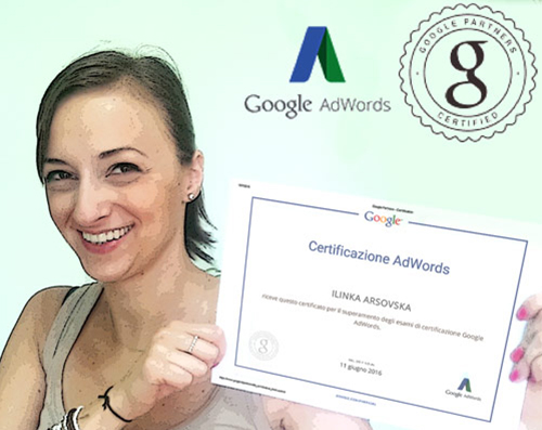 Ilinka Arsovska - Certificata Corso Google AdWords Milano
